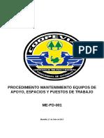 ME-PD-001 PROCEDIMIENTO MANTENIMIENTO DE EQUIPOS DE APOYO, ESPACIOS.pdf