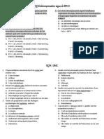 Qcm Mohsen - Module Urgence - 6ième année médecine