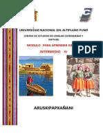 Aymara Intermedio IV 2020 CELEN UNA PUNO