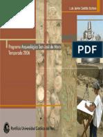 Programa Arqueológico San José de Moro. Temporada 2006
