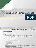 Manajemen Pemasaran Jasa Bank