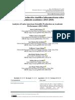 ARTICULO Análisis de la producción científica latinoamericana sobre