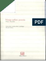 Paul Valery - Notas sobre poesía