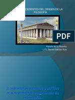 Sistema económico y político que posibilitó el origen de la Filosofía en Grecia (Ramón Salcido)