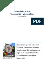 MATEMÁTICA E SUAS TECNOLOGIAS - JUROS SIMPLES