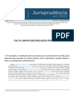 Jurisprudencia em Teses 146 - Falta Grave em Execucao Penal - IV
