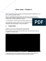 INF1511 - Chapter 1 - Python and its Features