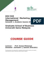 AGU644 Course Guide