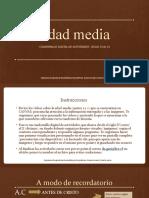 Cuadernillo digital de actividades edad media I- 8 básico A- Danitza García