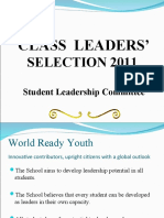 Class Leader Selection 2011