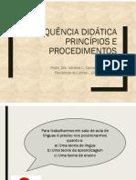 Sequências Didáticas - apresentação