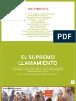 EL SUPREMO LLAMAMIENTO