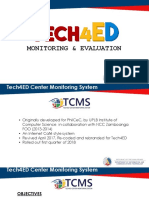 BCMT Module 5- Monitoring and Evaluating Tech4ED Centers