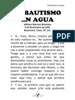 61-0119 EL BAUTISMO EN AGUA HUB