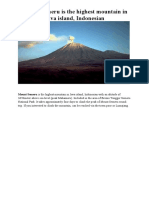 Mount Semeru is the Highest Mountain in Java Island