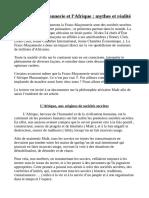 La Franc-Maçonnerie et l'Afrique