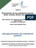 2. Quien, Como, Cuando, Donde y Porque, Por Nestor Bejarano (Patentes)