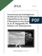 Incertezas da Inteligência Artificial (1_4)  Cenários Hipotéticos de uma Ciberguerra em Ação  por A. &  R. Magnelli  M. Meyer e R. Damasceno – Blog do Sociofilo