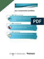 UA 17 - Plano de Contas e Lançamentos Contábeis
