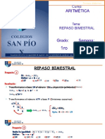 Clase Virtual Aritmética Repaso Bimestral - 1ro Sec - Sin Audio