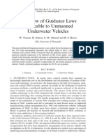 A Review of Guidance Laws Applicable to Unmanned Underwater Vehicles