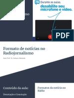 Radiojornalismo - aula 07 - sonora (parte II)