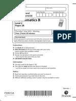 03a IGCSE Maths 4MB1 Paper 2R June 2018