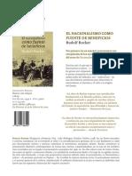 Ficha comercial del libro El nacionalismo como fuente de beneficios