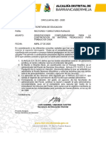 Circular 023-2020 -Orientaciones complementarias trabajo académico en casa