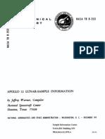 Apollo 12 Lunar Sample Information