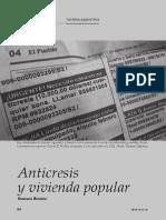 ANTICRESIS EN VIVIENDA POPULAR