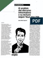 Analisis Del Discurso Segun Van Dijk