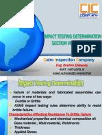 ASME VIII Div. 1- 7 Impact testing