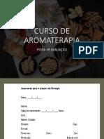 Ficha de Avaliação - Aromaterapia
