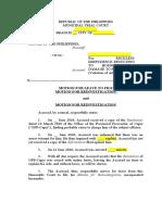 Motion for Leave to File Rejoinder with Rejoinder