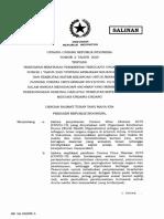 UU 2 Tahun 2020- Penetapan Perppu 1 Tahun 2020 Menjadi UU.pdf