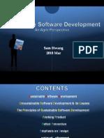 Sustainable Software Developmt