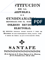 Constitucion, Republica de Cundinamarca 1812