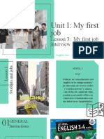 Unit I - Lesson 3_  My first job interview.pptx