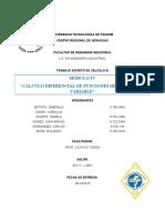 MÓDULO IV. Cálculo III. Cálculo diferencial de funciones de varias variables.