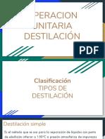 OPERACION UNITARIA DESTILACIÓN