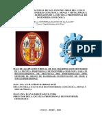 PROPUESTA DEL PLAN DE ADAPTACION VIRTUAL DE TRAMITES DOCUMENTARIOS EPIG