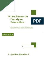 Bases de l'analyse financière
