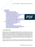 Economy of Pakistan – Challenges and Prospects (CSS Essay)