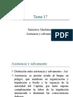 Tema 17 - Siniestros Marítimos - Salavamento (1)