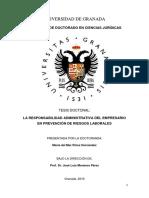 La responsabilidad administrativa del empresario en PRL - Univ. Granada - 2019.pdf