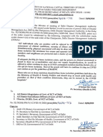 Order -Modification of Order Issued on 19-6-2020 Regarding Home Isolation Dt.20!6!2020