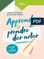 Apprendre a prendre des notes - Andre Giordan, Jerome Saltet.epub