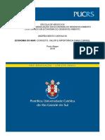 CARVALHO, Andrea B. Economia do mar