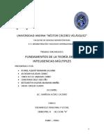 FUNDAMENTOS DE LA TEORIA DE LAS INTELIGENCIAS MULTIPLES
